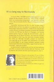 It'S A Long Way To Normandy 6 Juin 1944 - 4ème de couverture - Format classique