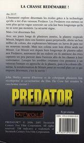 Prédator t.1 ; minuit à jamais - 4ème de couverture - Format classique