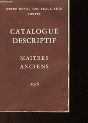 Catalogue Descriptif Maitres Anciens - Couverture - Format classique