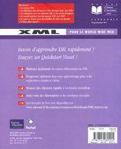 Peachpit Xml Pour Le World Wide Web - 4ème de couverture - Format classique
