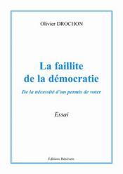 La faillite de la democratie - Intérieur - Format classique