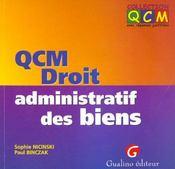 Qcm droit administratif des biens - Intérieur - Format classique