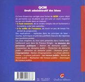 Qcm droit administratif des biens - 4ème de couverture - Format classique
