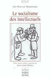 Le socialisme des intellectuels - Intérieur - Format classique