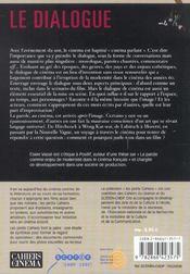 Le Dialogue Du Texte Ecrit A La Voix De Mise En Scene - 4ème de couverture - Format classique