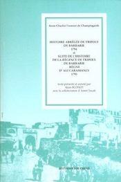 Histoire abrégée de Tripoly de barbarie, 1794 - Intérieur - Format classique