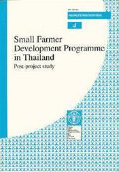 Small farmer development programme in thailand post-project study n.4 - Couverture - Format classique