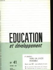 Education Et Developpement N°41 - Couverture - Format classique
