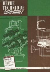 Revue Technique Automobile - N°226 - Couverture - Format classique