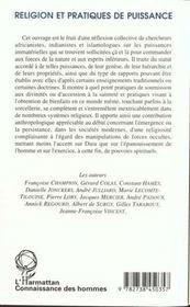 Religion Et Pratiques De Puissances - 4ème de couverture - Format classique