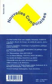 Nouvelles Congolaises N.29 ; Geopolitique Et Religions En Afrique Centrale - 4ème de couverture - Format classique