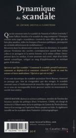 Dynamique du scandale ; de l'affaire Dreyfus à Clearstream - 4ème de couverture - Format classique