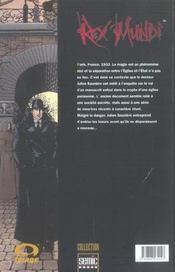 Rex Mundi T.1 - 4ème de couverture - Format classique
