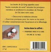 Boules chinoises de Qi Gong ; coffret cube - 4ème de couverture - Format classique
