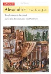 Alexandrie Iiieme Siecle Avant Jc - Couverture - Format classique