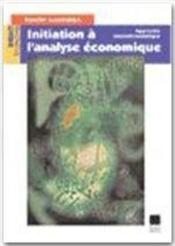 Initiation à l'analyse économique - Couverture - Format classique