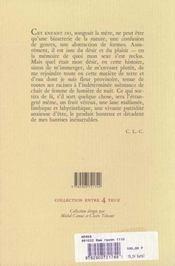 Meres (Des) - 4ème de couverture - Format classique