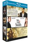 DVD & Blu-ray - Coffret Brad Pitt - L'Assassinat De Jesse James Par Le Lâche Robert Ford + Mr. & Mrs. Smith + Troie