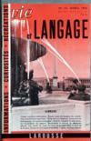 Presse - Vie Et Langage N°13 du 01/04/1953