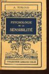 Psychologie De La Sensibilite / Collection Armand Collin N°293.