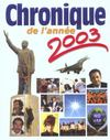 Chronique de l'année 2003