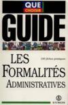 Les Formalites Administratives