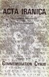 ACTA IRANICA. Encyclopédie permanente des recherches iraniennes.