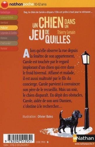 Livre - Un chien dans un jeu de quilles - Thierry Lenain