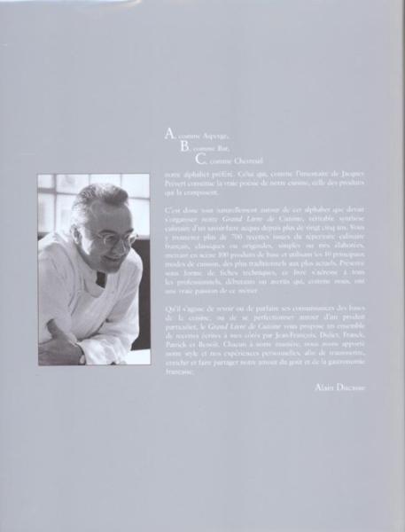 Livre grand livre de cuisine d 39 alain ducasse alain ducasse for Alain ducasse grand livre de cuisine