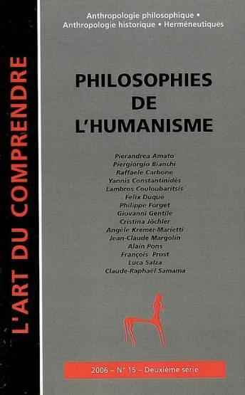 Vente Livre :                                    Philosophies de l'humanisme                                      - Collectif