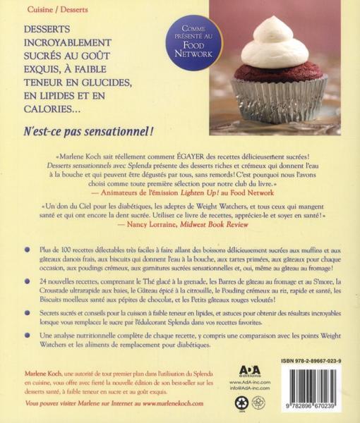 Les desserts faibles en gras Recettes du Qubec