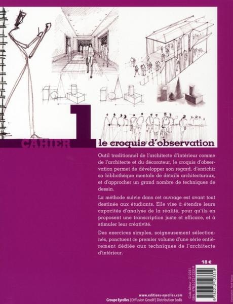Livre initiation au m tier d 39 architecte d 39 int rieur t 1 le croquis d 39 observation tacha - Metier architecte d interieur ...