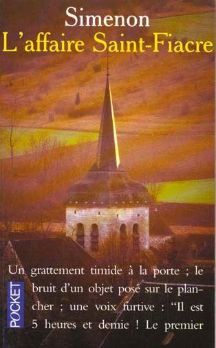 Simenon - L'affaire Saint Fiacre - 1932