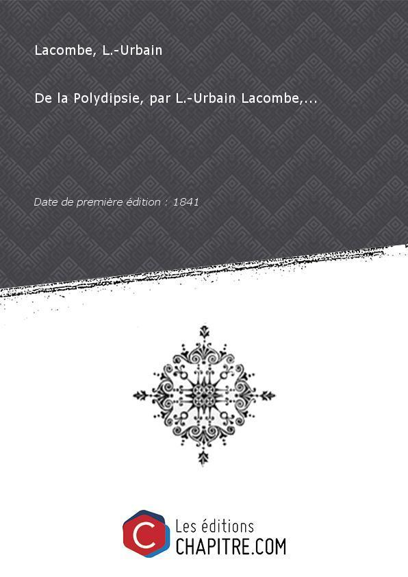 la Polydipsie