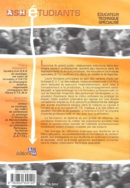 livre educateur technique specialise thierry braganti acheter occasion 04 12 2004