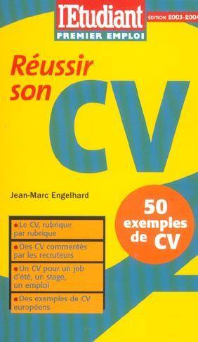 Livre - Réussir son CV. le CV rubrique par rubrique, des ...