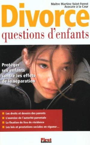 Vente Livre :                                    Divorce ; Questions D'Enfants                                      - Martine Valot-Forest