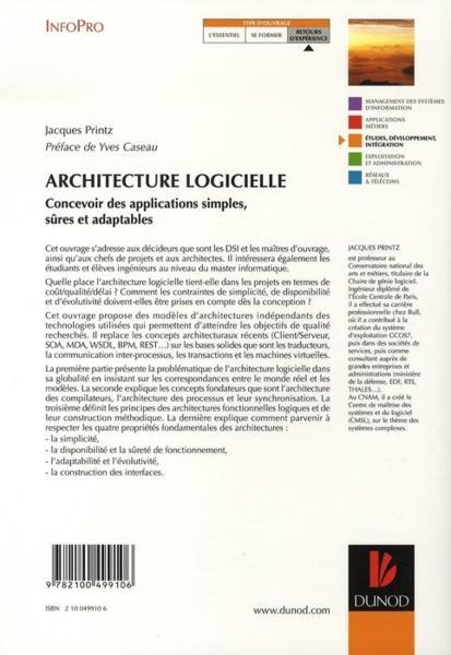 Livre architecture logicielle concevoir des for Architecture logicielle