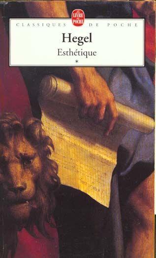 Livre - Esthetique Tome 1 - Georg Wilhelm Friedrich Hegel