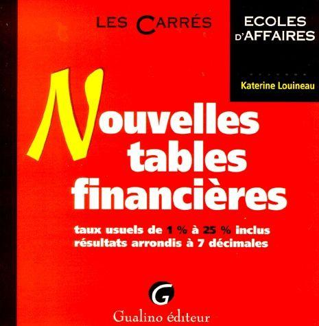 Livre nouvelles tables financi res katerine louineau Table financiere