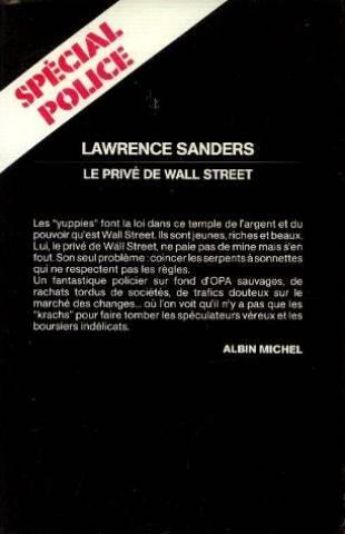 Le Prive De Wall Street  - Lawrence Sanders
