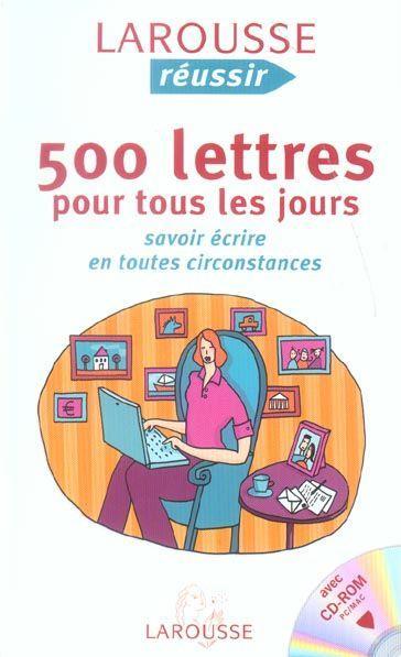 livre 500 lettres pour tous les jours savoir ecrire en toutes circonstances th r se de. Black Bedroom Furniture Sets. Home Design Ideas