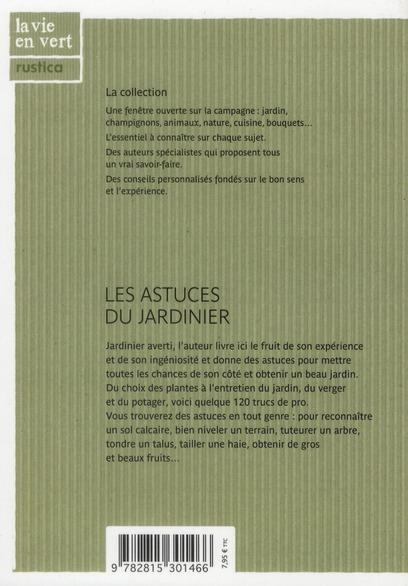 livre les astuces du jardinier jean yves prat. Black Bedroom Furniture Sets. Home Design Ideas