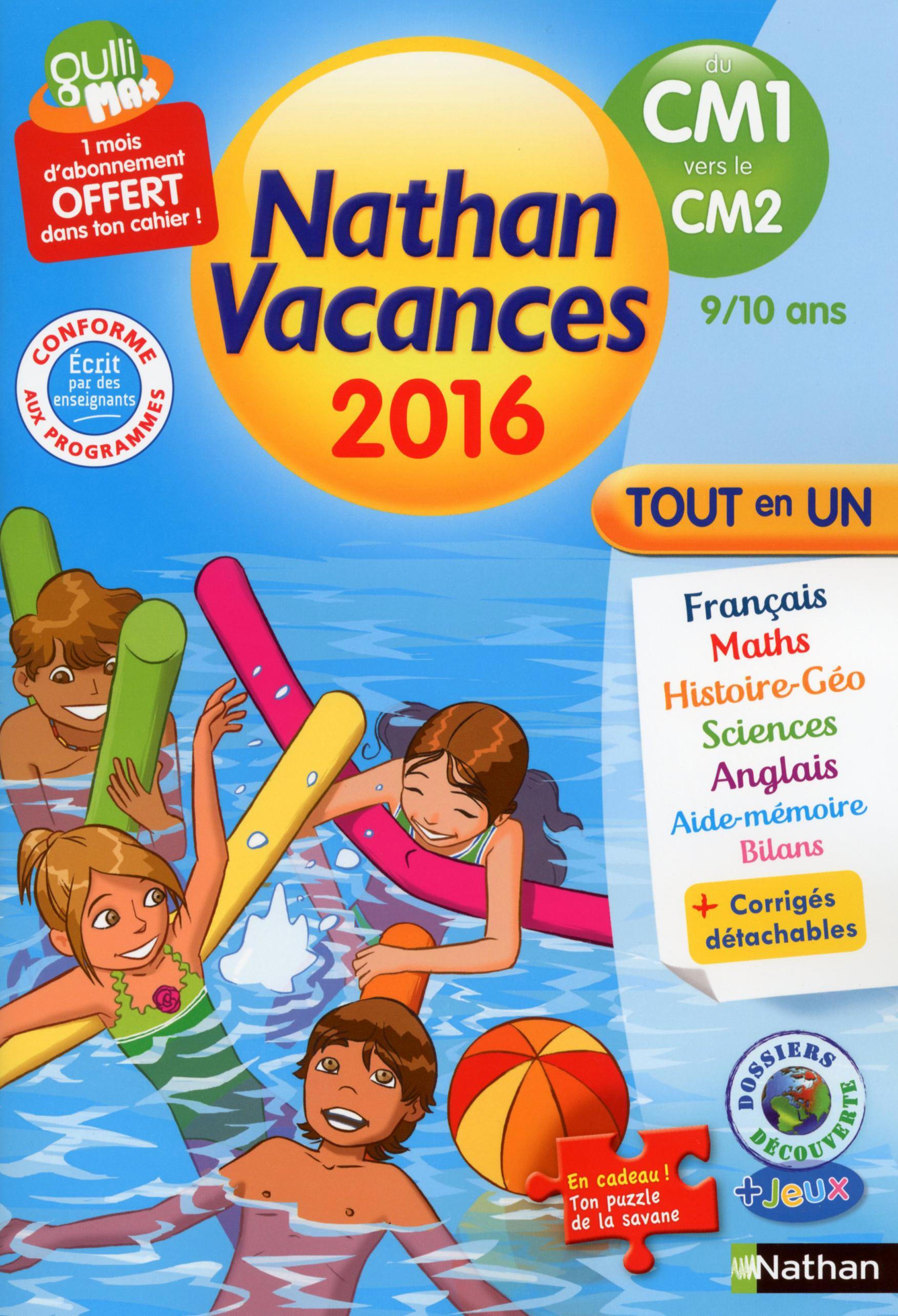 c2d39f082abdb NATHAN VACANCES ; CM1 vers CM2 ; 9/10 ans (édition 2016)