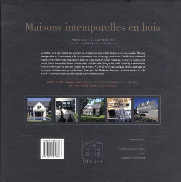 livre maisons intemporelles en bois van den berghe liesbeth verlinde jan. Black Bedroom Furniture Sets. Home Design Ideas