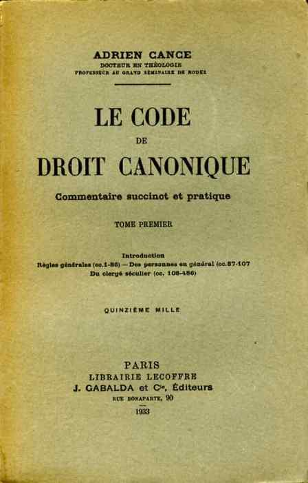 code de droit canonique pdf
