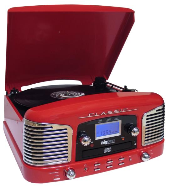 tourne disques r tro vintage rouge td78 avec encodeur mp3. Black Bedroom Furniture Sets. Home Design Ideas
