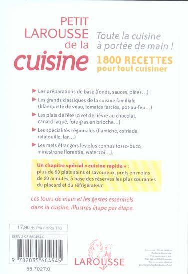 Livre petit larousse de la cuisine 1800 recettes for Petit larousse de la cuisine