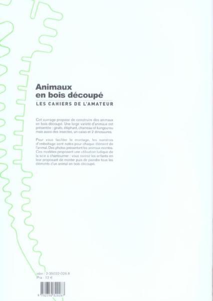 Livre Animaux en bois decoupe Collectif # Animaux En Bois Découpé