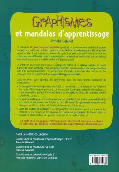 Livre graphismes et mandalas d 39 apprentissage cycle 3 fiches photocopier armelle g ninet - Mandalas cycle 3 ...